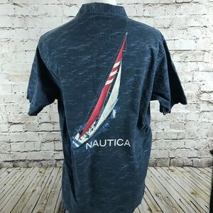 Nautica Men's Short Sleeve Camp Shirt Size Large